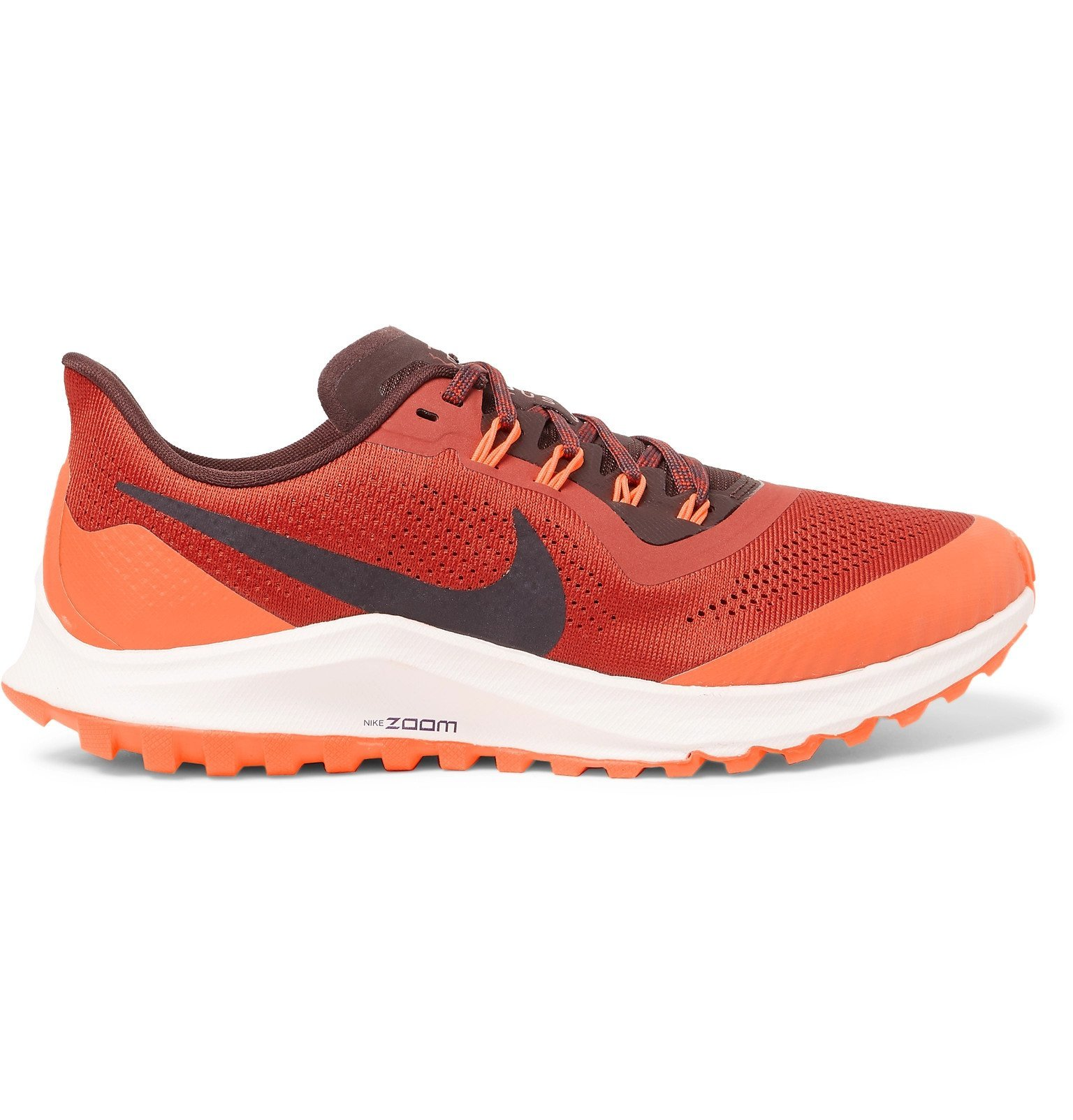 Photo: Nike Running - Air Zoom Pegasus 36 Trail Mesh Running Sneakers - Red