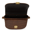 3.1 Phillip Lim Brown Croc Pashli Saddle Bag