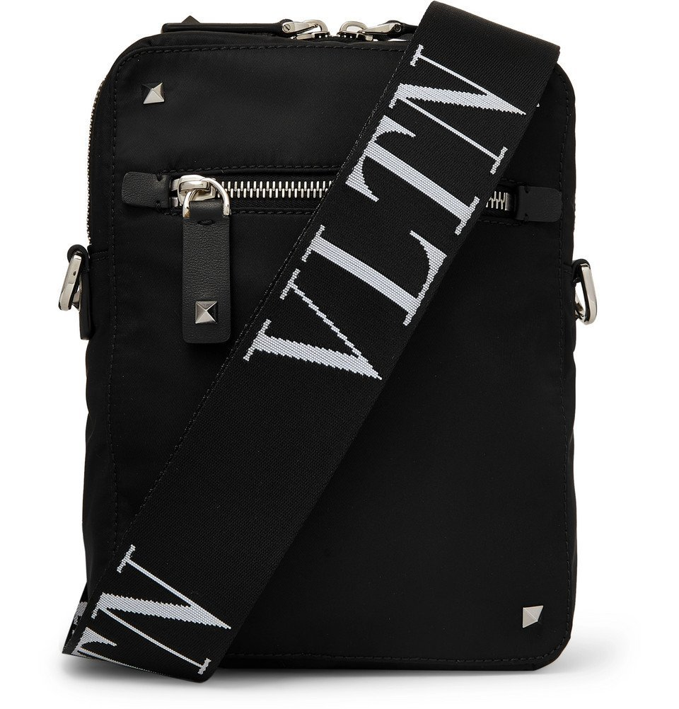 Photo: Valentino - Valentino Garavani Logo-Jacquard Shell Messenger Bag - Black