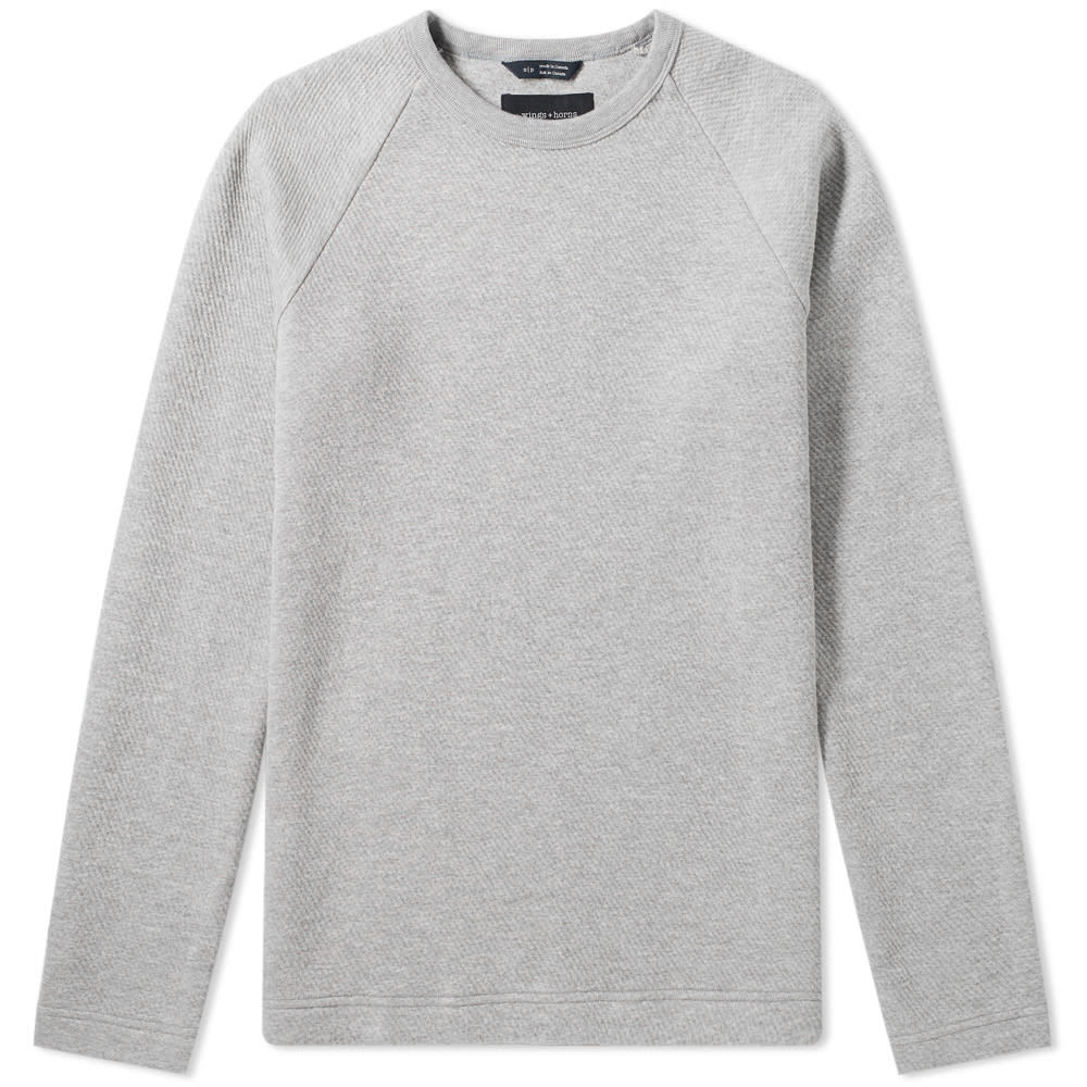 Photo: Wings + Horns Vented Double Knit Crew