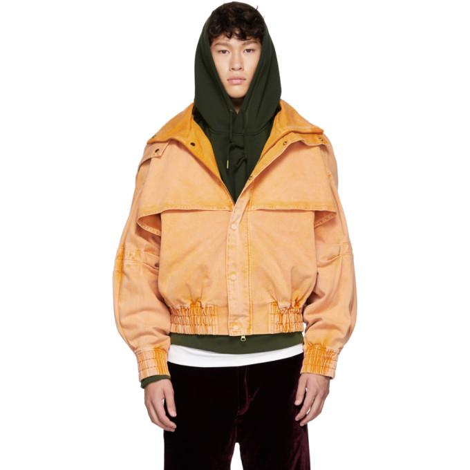 Photo: Feng Chen Wang Orange Oversized Hooded Jacket