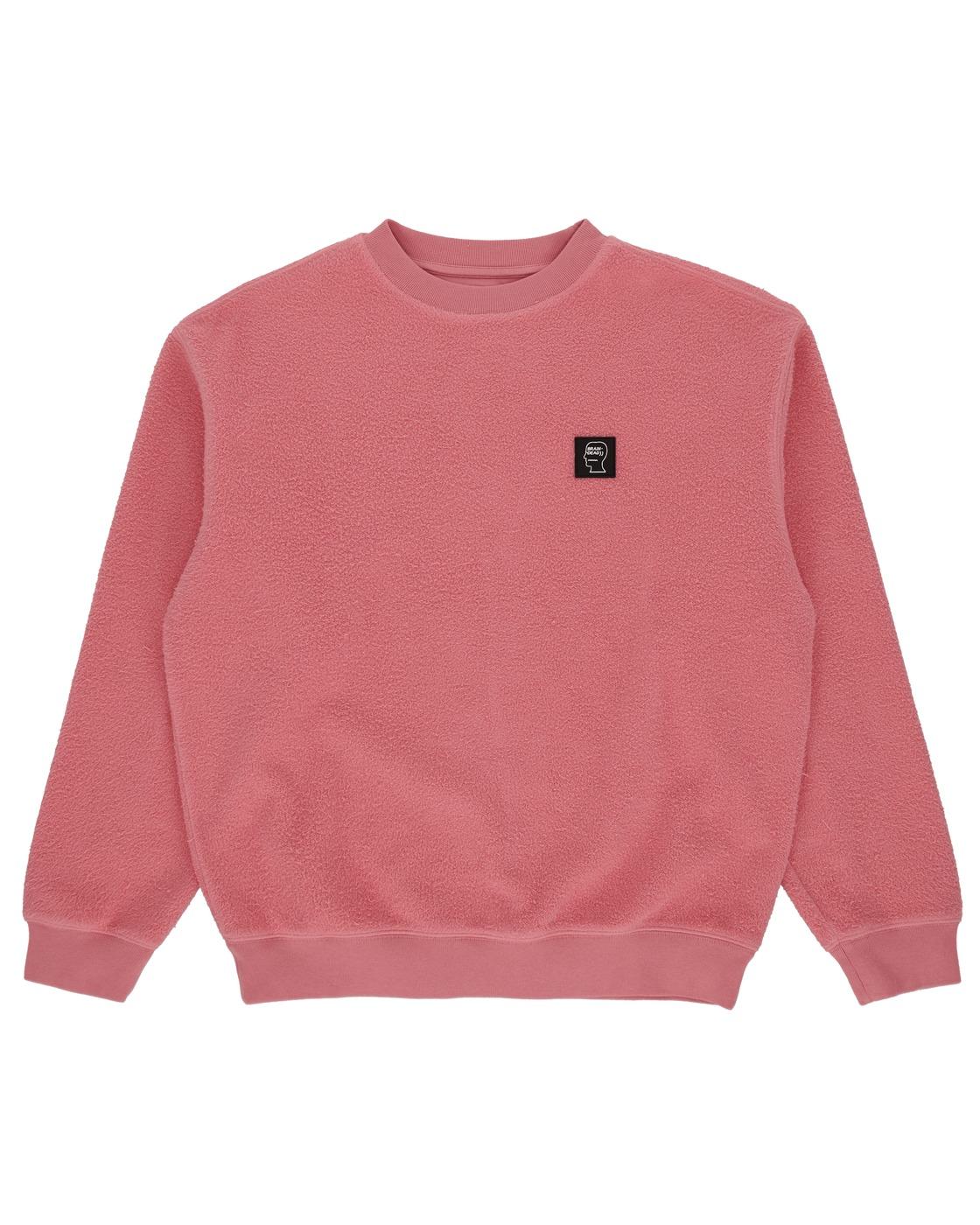 Photo: Brain Dead Reverse Fleece Crewneck Sweatshirt Pink