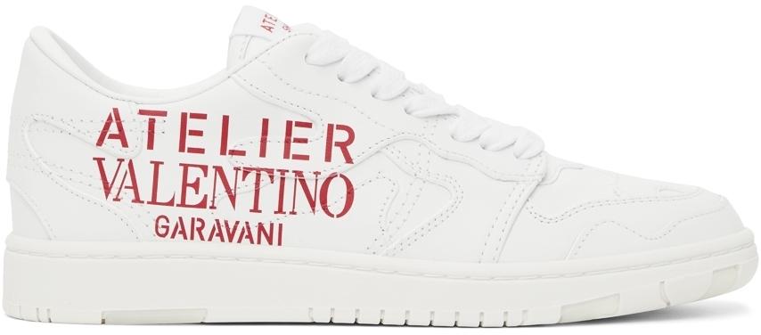 Photo: Valentino Garavani White 07 Camouflage Edition Low Sneakers
