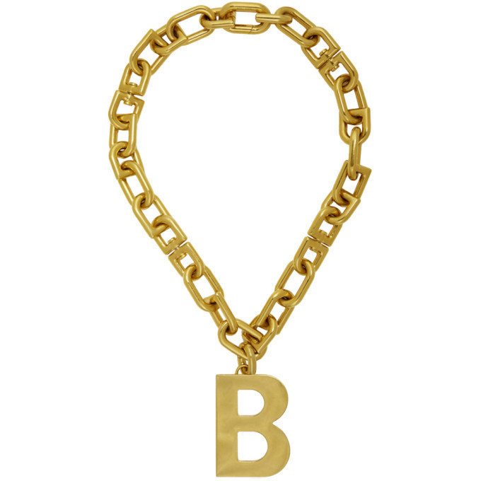 Photo: Balenciaga Gold B Chain Necklace