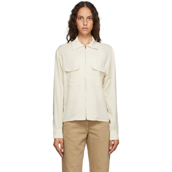 Photo: Lemaire Off-White Zipped Shirt