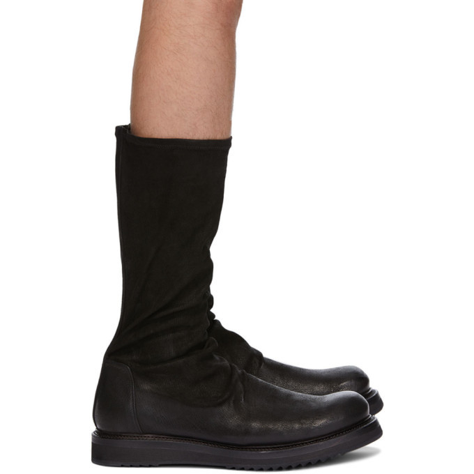 Photo: Rick Owens Black Creeper Sock Boots