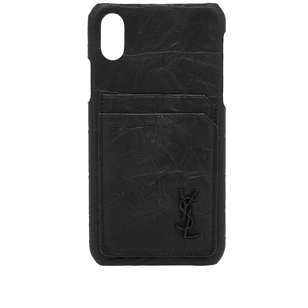 Photo: Saint Laurent Logo Monogram iPhone X Case