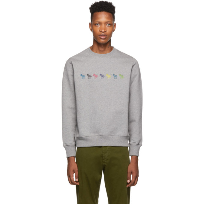 Photo: PS by Paul Smith Grey Regular Fit Sweatshirt
