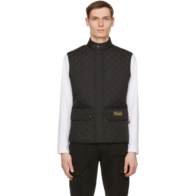 Photo: Belstaff Black Lightweight Quilted Vest