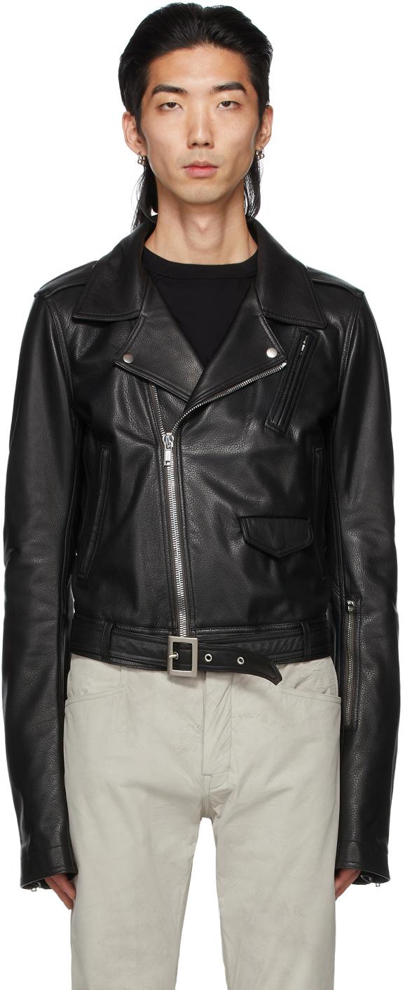 Photo: Rick Owens Black Leather Lukes Stooges Jacket