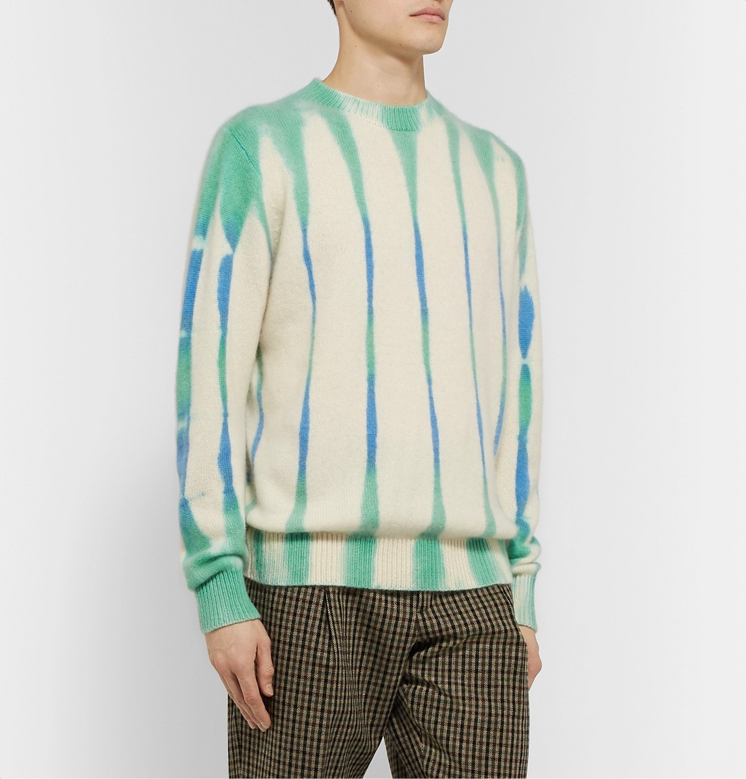 The Elder Statesman - Tie-Dyed Cashmere Sweater - Blue