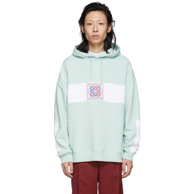 Photo: Givenchy Green 4G Patch Hoodie