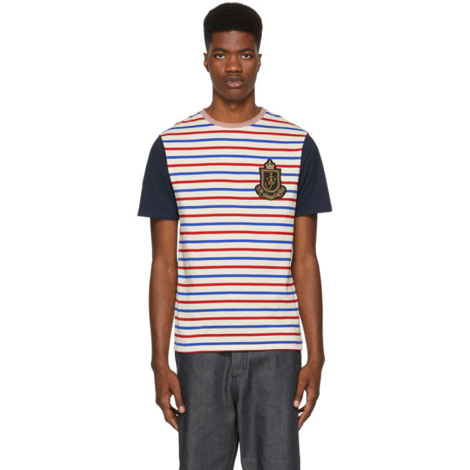 Photo: JW Anderson Multicolor Panelled Breton Stripe T-Shirt