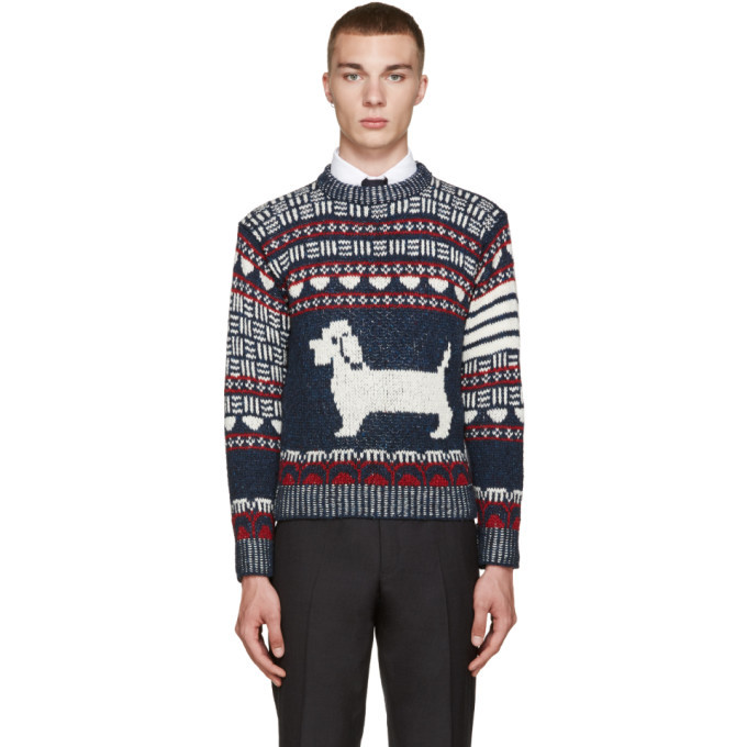 Photo: Thom Browne Navy Fair Isle Hector Sweater