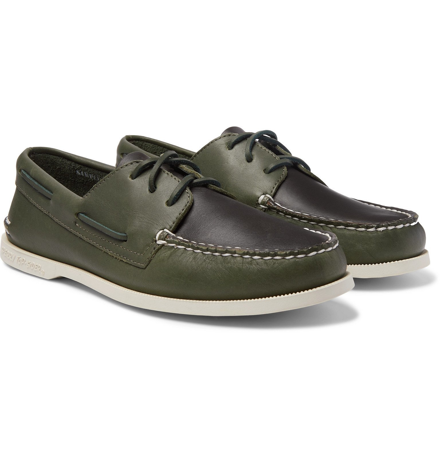 Photo: Sperry - Authentic Original Two-Tone Leather Boat Shoes - Green