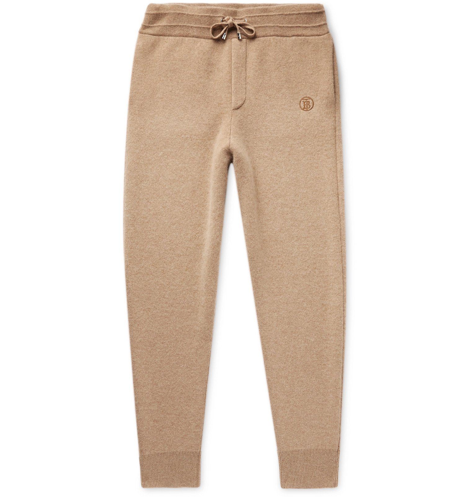 Photo: Burberry - Tapered Cashmere-Blend Sweatpants - Brown