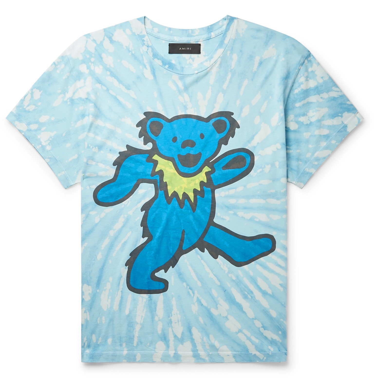 Photo: AMIRI - Printed Tie-Dyed Cotton-Jersey T-Shirt - Blue