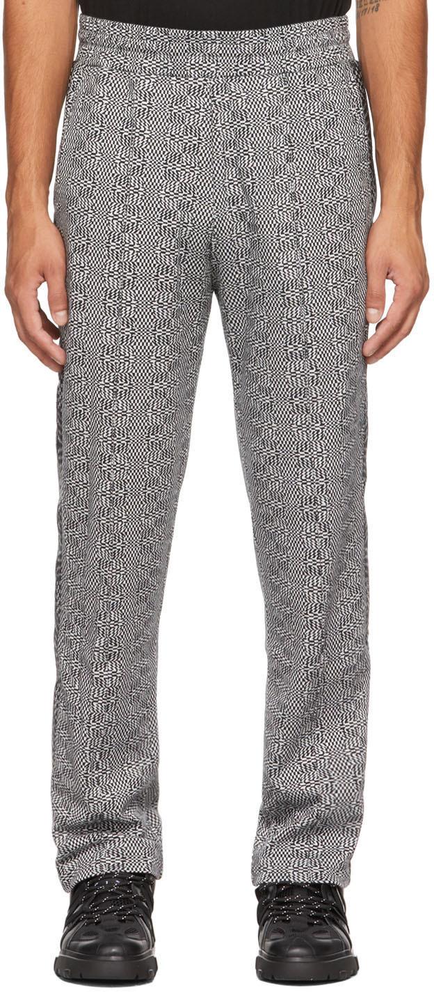 MCQ Black & White Check Interlock Track Trousers