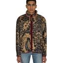 Kapital Damask Zip Virgin Mary Fleece Jacket Beige