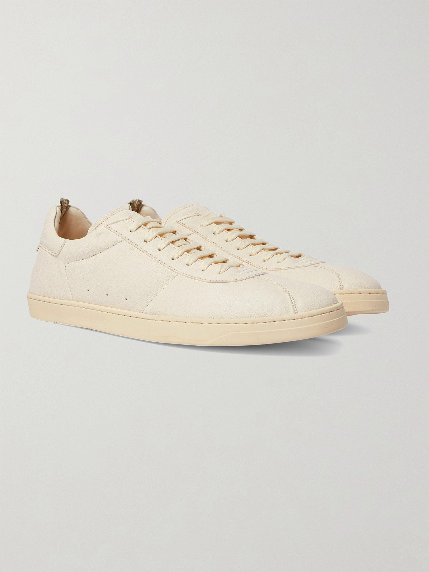 Photo: OFFICINE CREATIVE - Karma Leather Sneakers - White