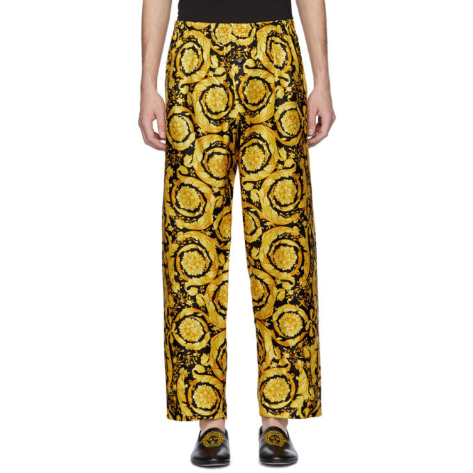 Photo: Versace Underwear Black and Gold Barocco Lounge Pants