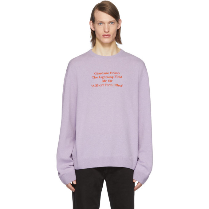 Photo: Raf Simons Purple Merino Giordano Bruno Sweater
