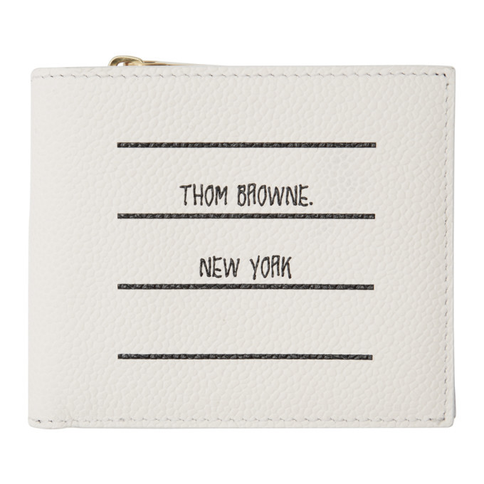 Photo: Thom Browne White Paper Label Billfold Wallet