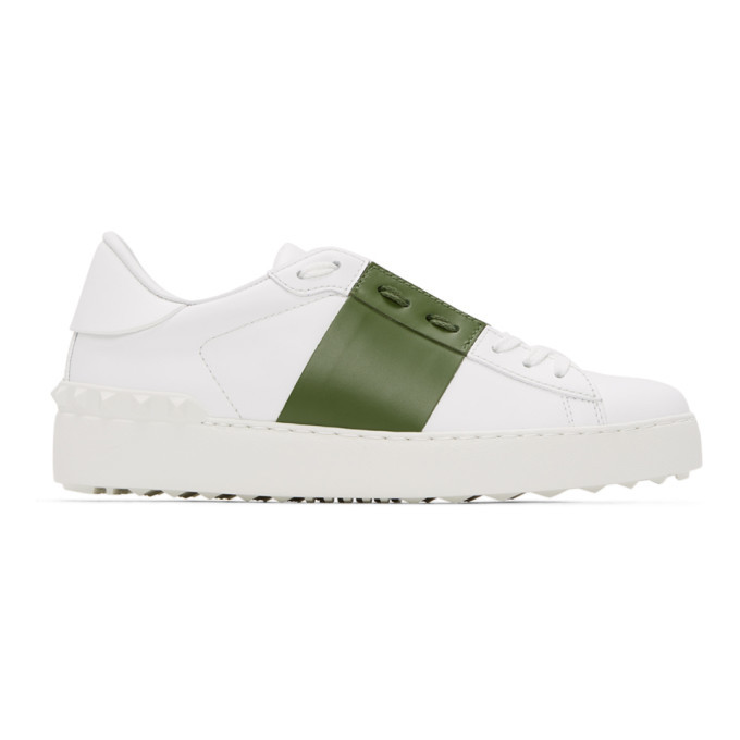 Photo: Valentino White and Green Valentino Garavani Open Sneakers