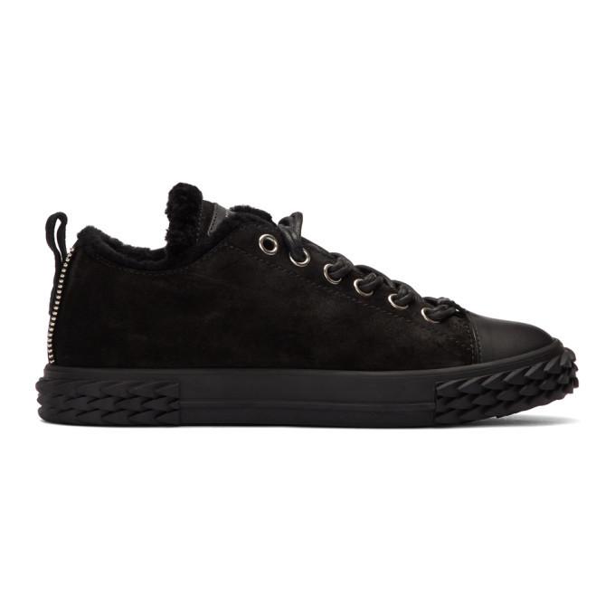 Photo: Giuseppe Zanotti Black Suede Low-Top Sneakers