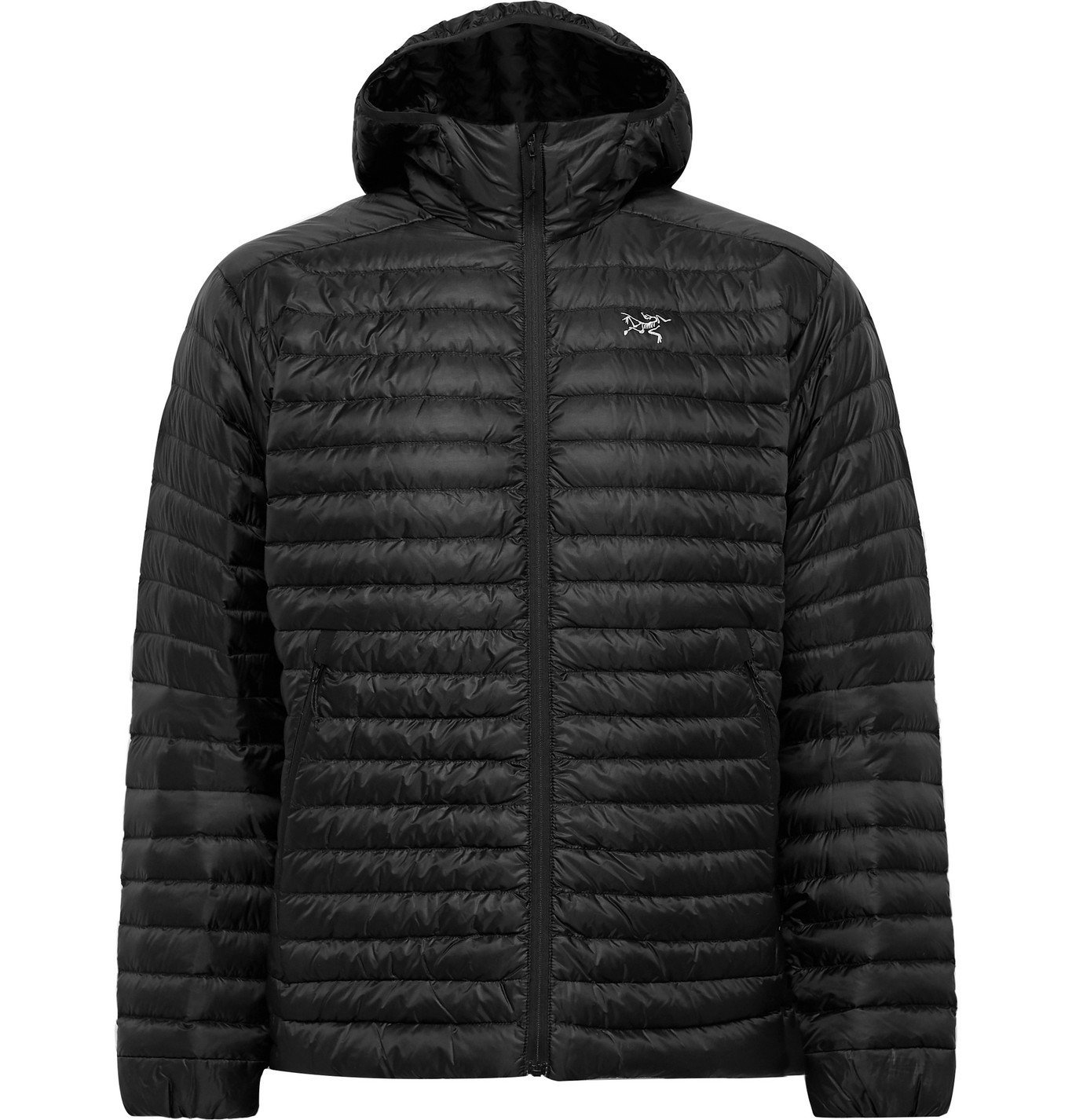 Photo: Arc'teryx - Cerium SL Packable Quilted Shell Hooded Down Jacket - Black
