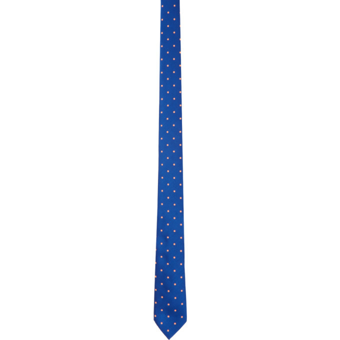 Photo: Paul Smith Blue Fluorescent Spot Tie