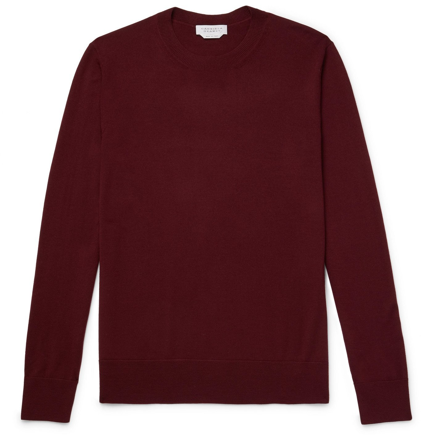 Photo: Gabriela Hearst - Palco Slim-Fit Virgin Wool Sweater - Burgundy