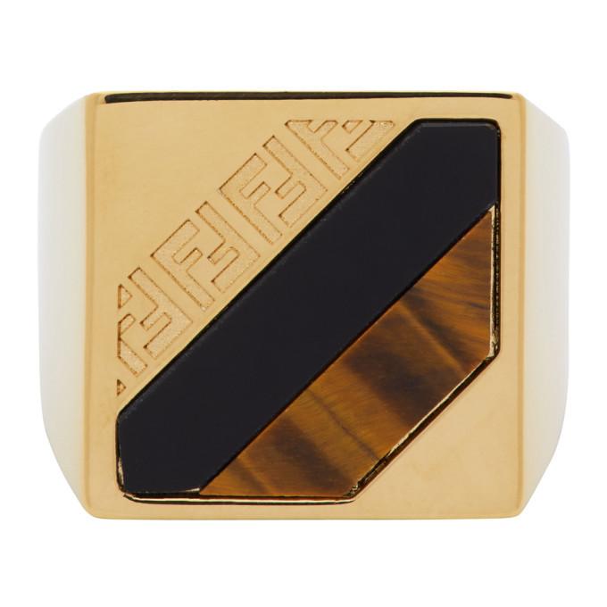 Photo: Fendi Gold Forever Fendi Signet Ring
