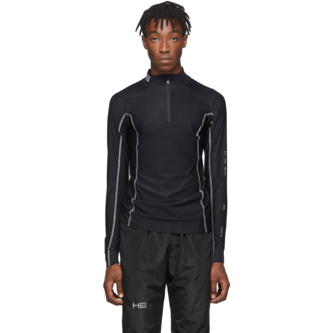 Photo: Heliot Emil Black Technical Half-Zip Pullover