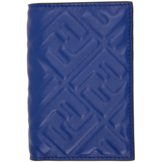 Photo: Fendi Blue Forever Fendi Vertical Card Holder