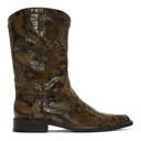 Martine Rose Brown Snake Cowboy Boots