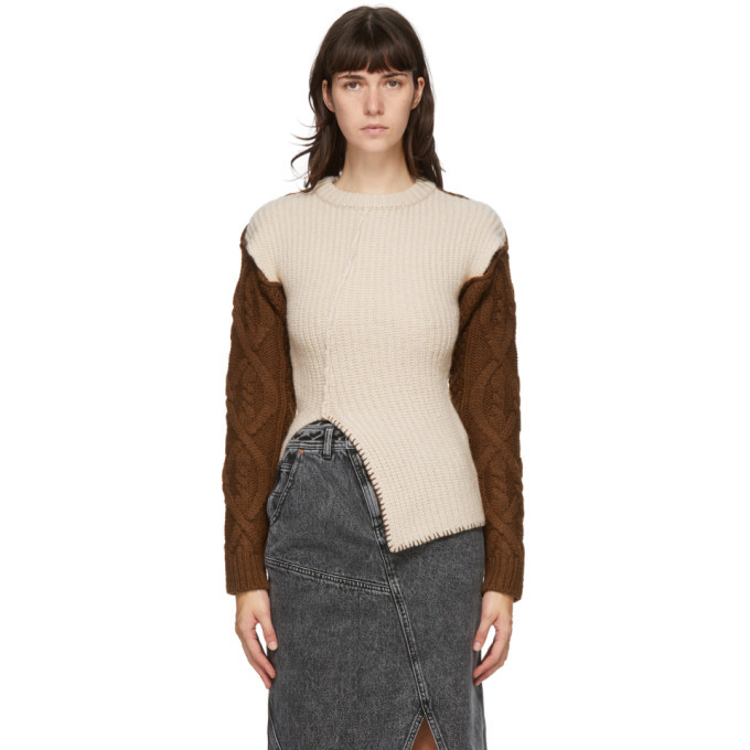 Photo: Andersson Bell Beige and Brown Knit Mollyna Sweater