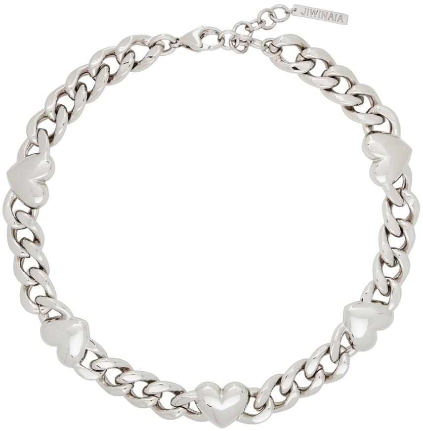 Jiwinaia Silver XL Heart Necklace
