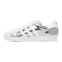 adidas Originals Silver and White Prada Edition Superstar Sneakers