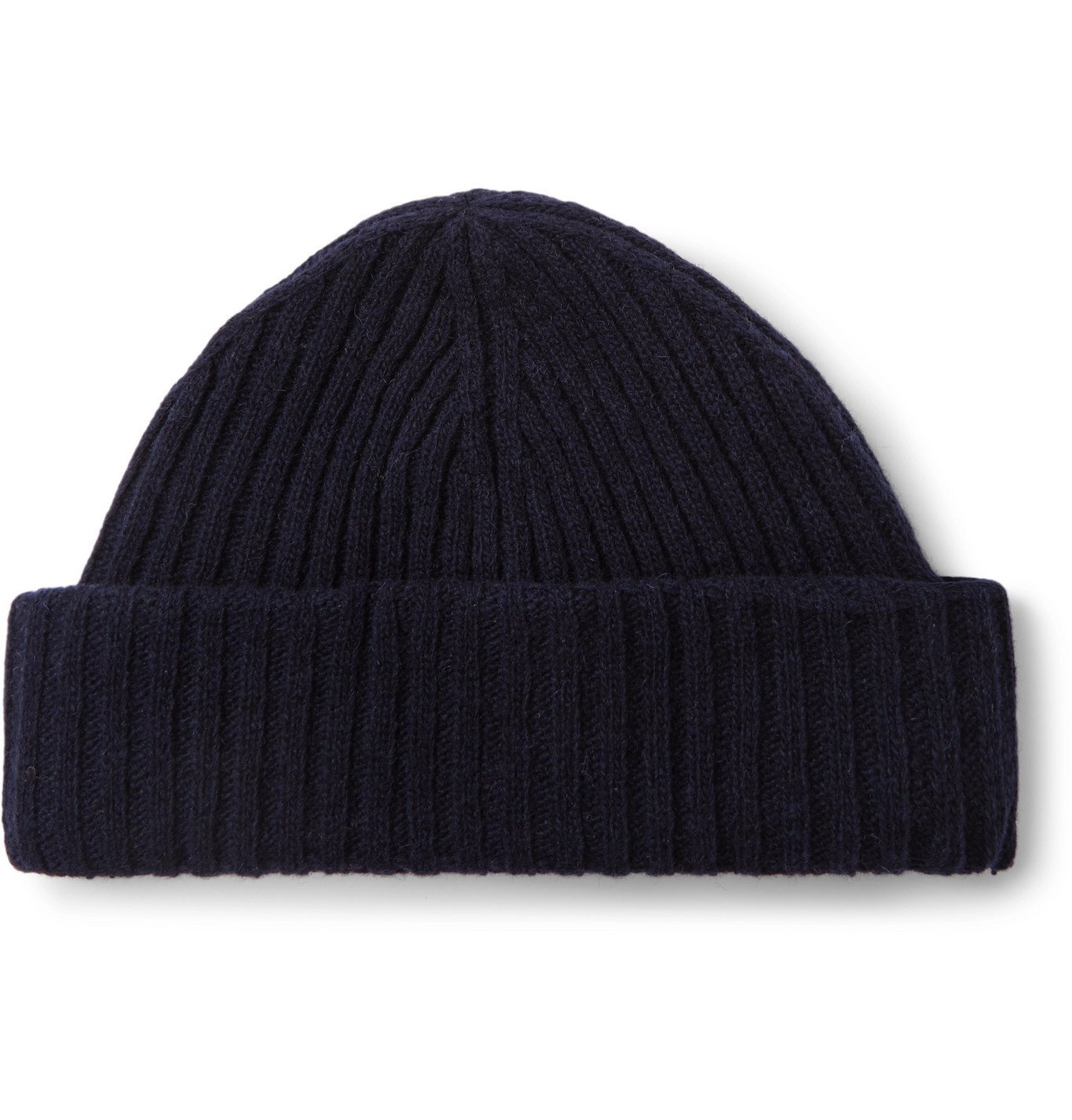 Photo: OLIVER SPENCER - Ribbed Wool-Blend Beanie - Blue