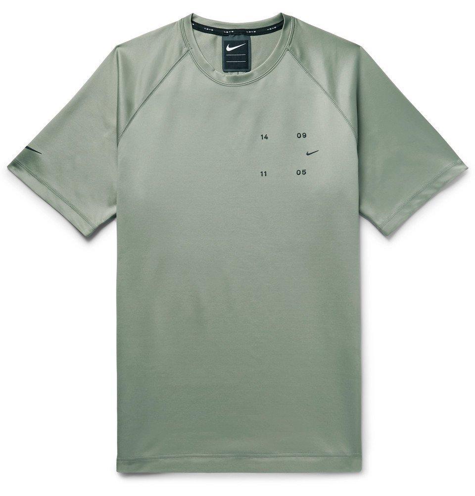 Photo: Nike - Sportswear Tech Pack Logo-Appliquéd Tech-Jersey T-Shirt - Army green
