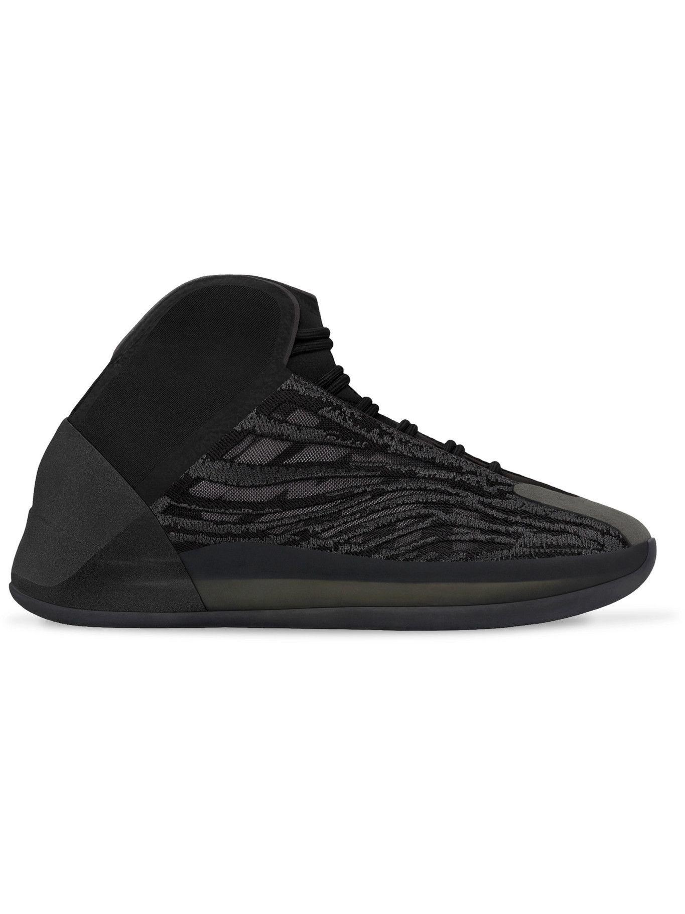 Photo: adidas Originals - Yeezy QNTM Primeknit, Mesh and Nubuck Sneakers - Black