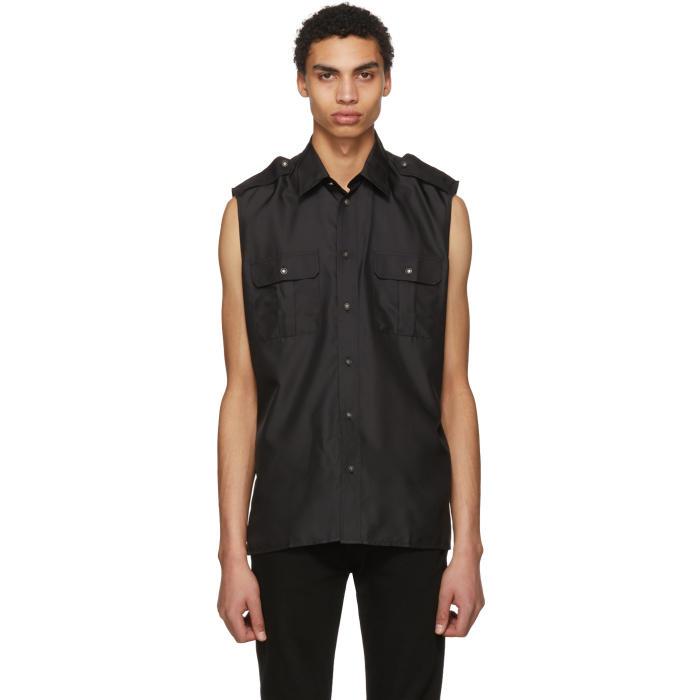 Photo: Givenchy Black Sleeveless Pocket Shirt