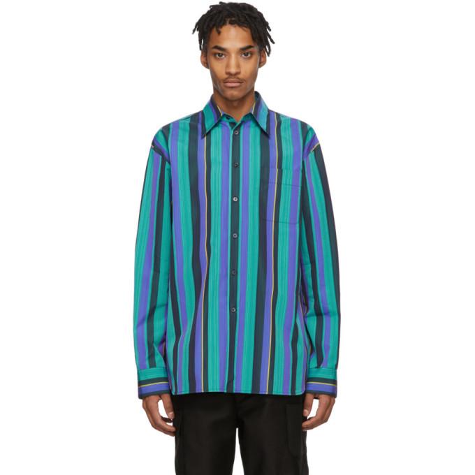 Photo: Marni Multicolor Poplin Striped Shirt