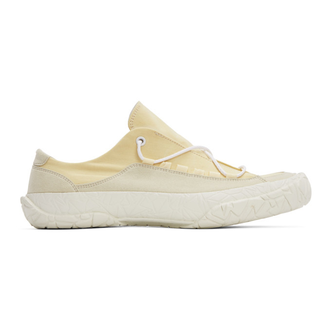 Photo: Issey Miyake Men Off-White Canvas NY Sneakers