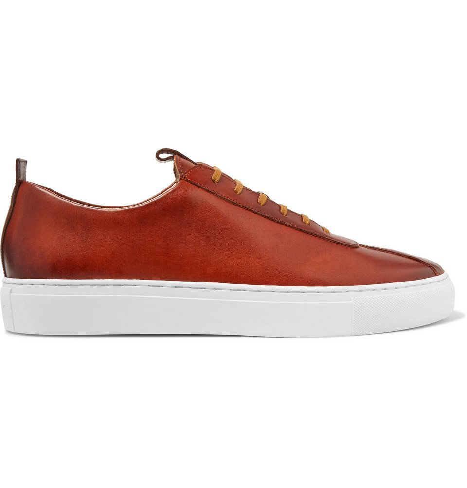 Photo: Grenson - Hand-Painted Leather Sneakers - Tan
