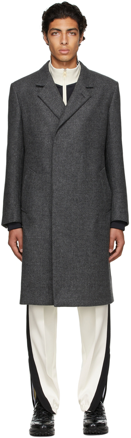Photo: Dunhill Grey Half Wrap Coat
