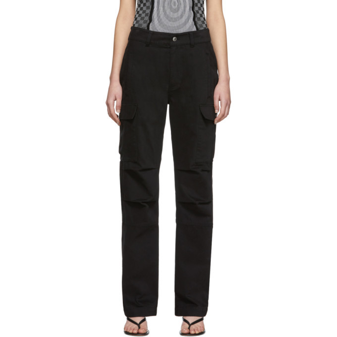 Photo: alexanderwang.t Black Twill Cargo Trousers