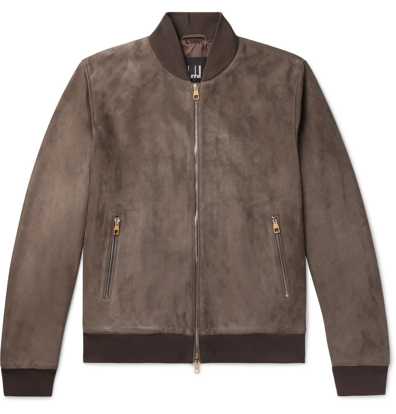Photo: Dunhill - Suede Bomber Jacket - Brown