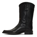 Martine Rose Black Leather Cowboy Boots